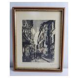 """Eau-forte sur papier """"Montmartre"""" ,signée"""