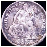 1875-CC Seated Liberty Dime LIGHTLY CIRCULATED