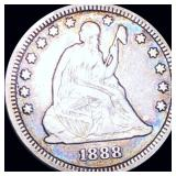 1888-S Seated Liberty Quarter LIGHTLY CIRCULATED
