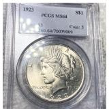 1923 Silver Peace Dollar PCGS - MS64