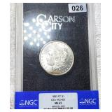 1883-CC Morgan Silver Dollar NGC - MS65 GSA HOARD