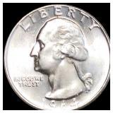 1964-D Washington Silver Quarter UNCIRCULATED
