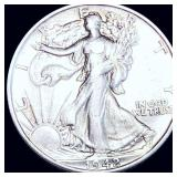 1942-S Walking Half Dollar ABOUT UNCIRCULATED