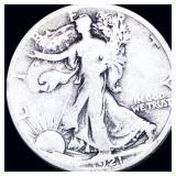 1921-S Walking Half Dollar NICELY CIRCULATED