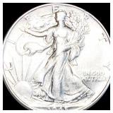 1945 Walking Half Dollar NEARLY UNCIRCULATED