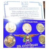 JFK 30th Anniversary Silver Clad Coin Set