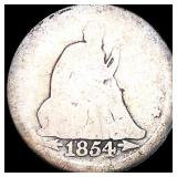 1854 Seated Liberty Quarter NICELY CIRCULATED