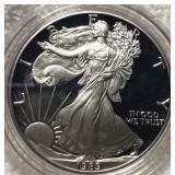 1989-S Silver Eagle GEM PROOF