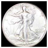 1947-D Walking Half Dollar ABOUT UNCIRCULATED