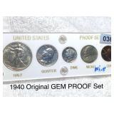 1940 Original Gem Proof Coin Set