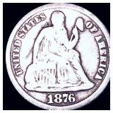 1876-CC Seated Liberty Dime NICELY CIRCULATED