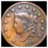 1831 Coronet Head Large Cent NICELY CIRCULATED