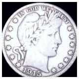 1915-S Barber Half Dollar NICELY CIRCULATED