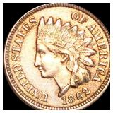 1862 Indian Head Penny CLOSELY UNCIRCULATED