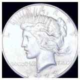 1923-S Silver Peace Dollar ABOUT UNCIRCULATED