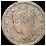 1846 Braided Hair Large Cent NICELY CIRCULATED