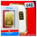 Suisse 5 Gram & 1 Gram .999 Gold Bars