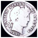 1892-O Barber Silver Dime NICELY CIRCULATED