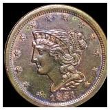 1851 Braided Hair Half Cent UNCIRCULATED