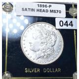 1896 Morgan Silver Dollar Satin Head SUPERB GEM BU