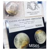 1885 Morgan Silver Dollar AGA - MS65