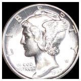 1937-D Mercury Silver Dime UNCIRCULATED