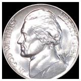 1942-P Jefferson War Nickel FULL STEPS UNC