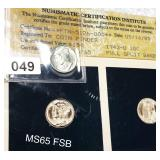1943-D Mercury Silver Dime NCI - MS 65 FSB