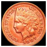 1887 Indian Head Penny CLOSELY UNCIRCULATED