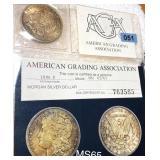 1896 Morgan Silver Dollar AGA - MS65