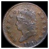 1814 Classic Head Large Cent NICELY CIRCULATED