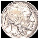 1913-D Type 1 Buffalo Head Nickel ABOUT UNC