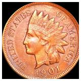 1901 Indian Head Penny CLOSELY UNCIRCULATED