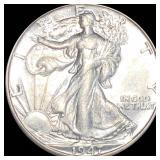 1947-D Walking Half Dollar LIGHTLY CIRCULATED