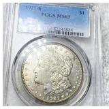 1921-S Morgan Silver Dollar PCGS - MS63