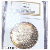 1890-O Morgan Silver Dollar NGC - MS64