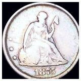 1875-S Seated Twenty Cent Piece NICELY CIRCULATED