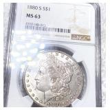 1880-S Morgan Silver Dollar NGC - MS63