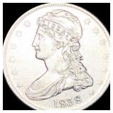 1838 Capped Bust Half Dollar NEARLY UNCIRCULATED