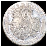 1776-1907-1976 Oklahoma Silver Round PROOF