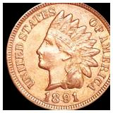 1891 Indian Head Penny NEARLY UNCIRCULATED