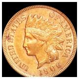 1906 Indian Head Penny CLOSELY UNCIRCULATED