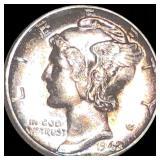 1942-D Mercury Silver Dime UNCIRCULATED