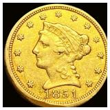 1851 $2.50 Gold Quarter Eagle LIGHTLY CIRCULATED
