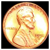 1958-D Lincoln Wheat Penny CLOSELY UNC