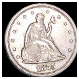 1875-S Seated Twenty Cent Piece CLOSELY UNC