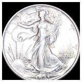 1943 Walking Half Dollar CLOSELY UNC