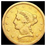 1851 $2.50 Gold Quarter Eagle NICELY CIRCULATED