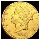 1902-S $20 Gold Double Eagle UNCIRCULATED