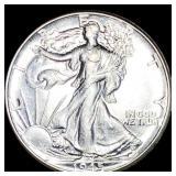 1945 Walking Half Dollar CLOSELY UNC